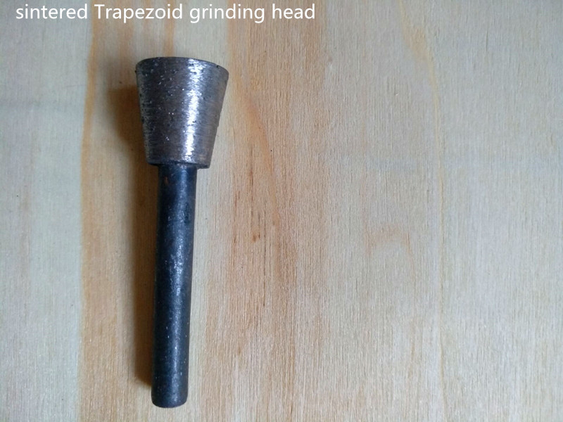 6mm Shank Trapezoid Shape Diamond Sintered Carving And Grinding Disc For Stone Carving And Grinding