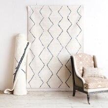 Марокканский стиль бежевый белый ручной работы геометрический