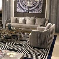 Латексный диван Скандинавская ткань диван-комбинация Гостиная три человека пуховый Съемный и моющийся современный минималистичный малень...
