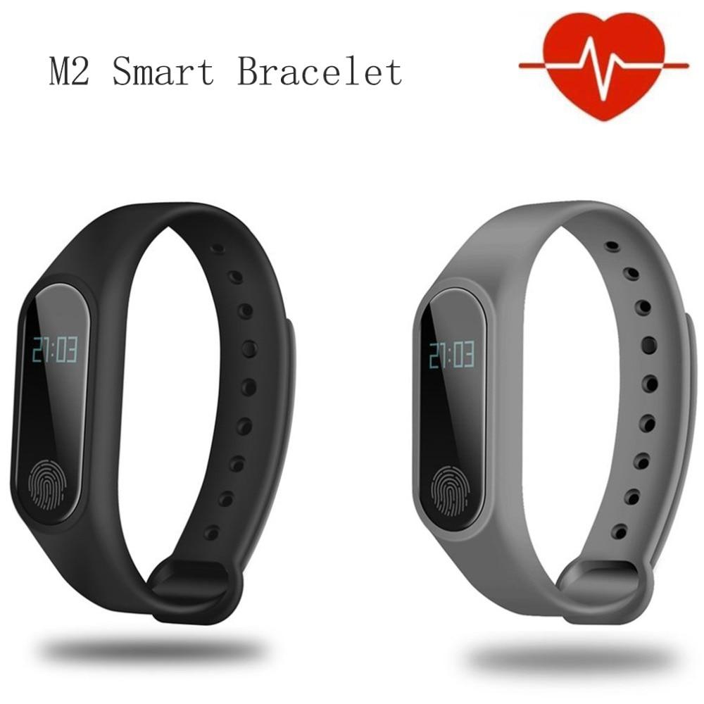 M2 Bluetooth Smart Wristband Heart Rate Sleep Monitor 3D Sensor Smart Bracelet For IOS For Andriod Pedometer Fitness Tracker