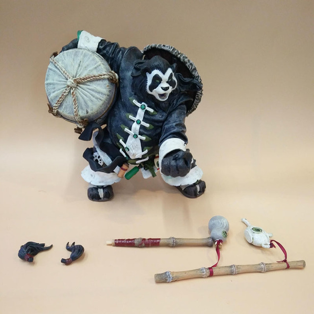 20CM Chen Stormstout Action Figure 1/8 Anime Game World of War WOW The Pandaren anime figurines model toys for children Gift