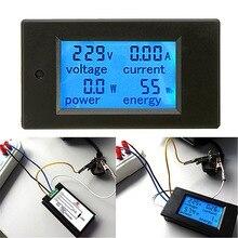 AC 20A Измерители Мощности Монитор Вольт Ампер кВтч Ватт цифровой комбо метр AC110V 220 В Вольтметр Амперметр