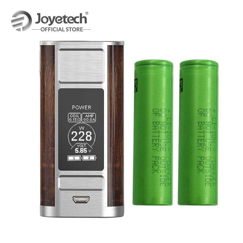 D'origine Joyetech Cuboid ROBINET Mod Avec 2 pièces 18650 Charge de La Batterie Mod Sortie 228 W 2 pouces Écran Électronique Cigarette