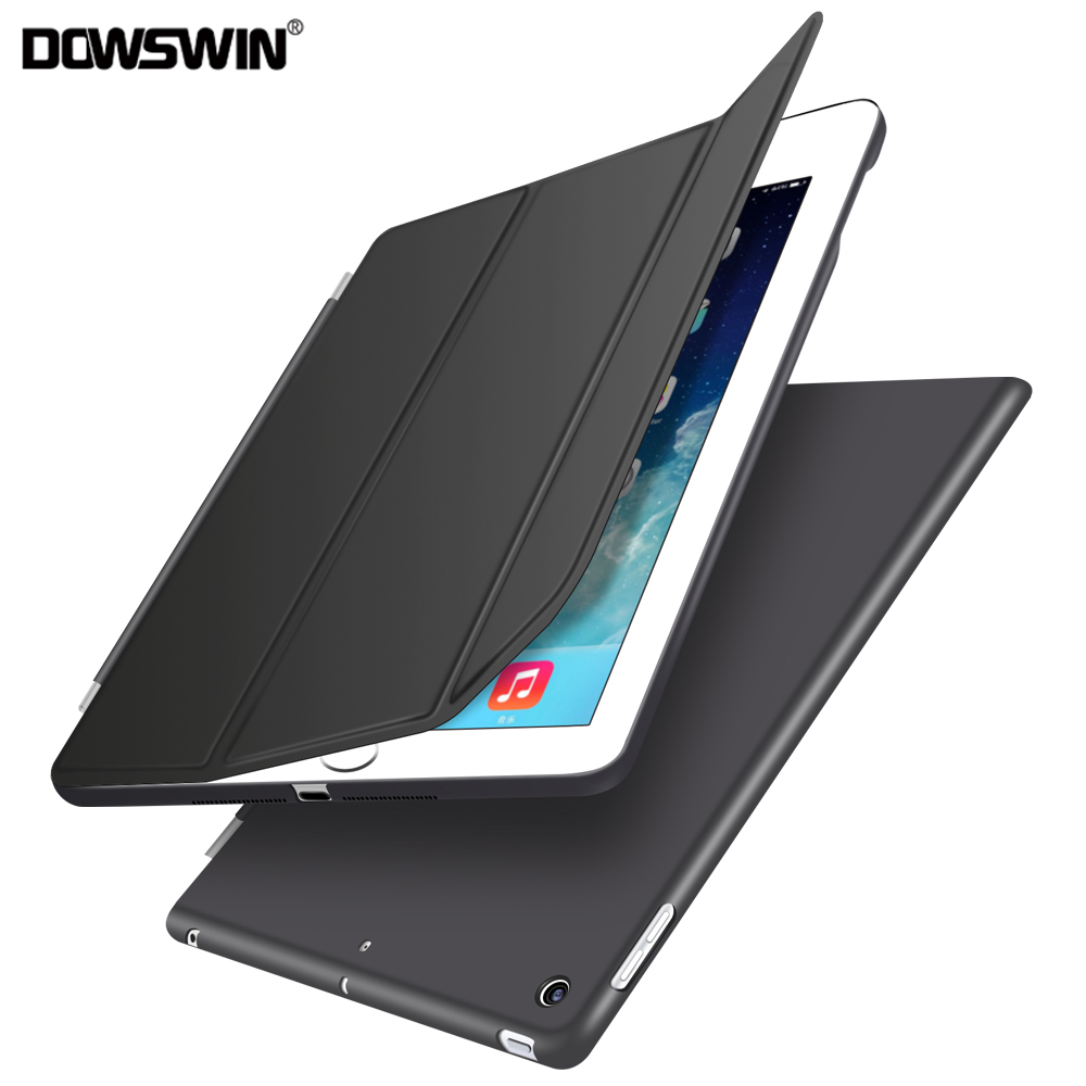 for ipad 9.7 2017 case, for ipad 2017 case 9.7 pu leather smart cover wake up sleep+matte transparent pc back cover +flip case for ipad air1 case smart wake up sleep tpu back cover for apple ipad 5 11 fold pu leather flip stand soft with small gift