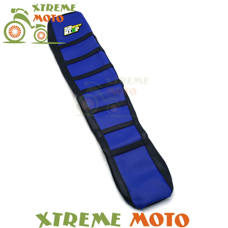 New Rubber Blue Gripper Soft Seat Cover For Yamaha YZ125 YZ250 1996-2001 Motorcycle Enduro Motocross Dirt Bike Off Road red rubber gripper soft seat cover for honda crf150r crf 150r 2006 2016 2017 motorcycle motocross enduro dirt bike off road