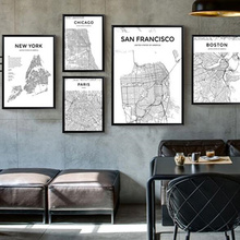 Nordic Vintage World City Map Canvas Painting Poster Unframed Movie TV Wall Wall Art Print Living Room Bedroom Bar Decoration цена 2017