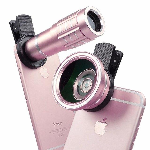 Alta qualidade grande angular lente macro para lg g2 g3 g4c g5 12x telefoto lentes do telescópio para meizu mx4 m3e mini m2 m3 nota