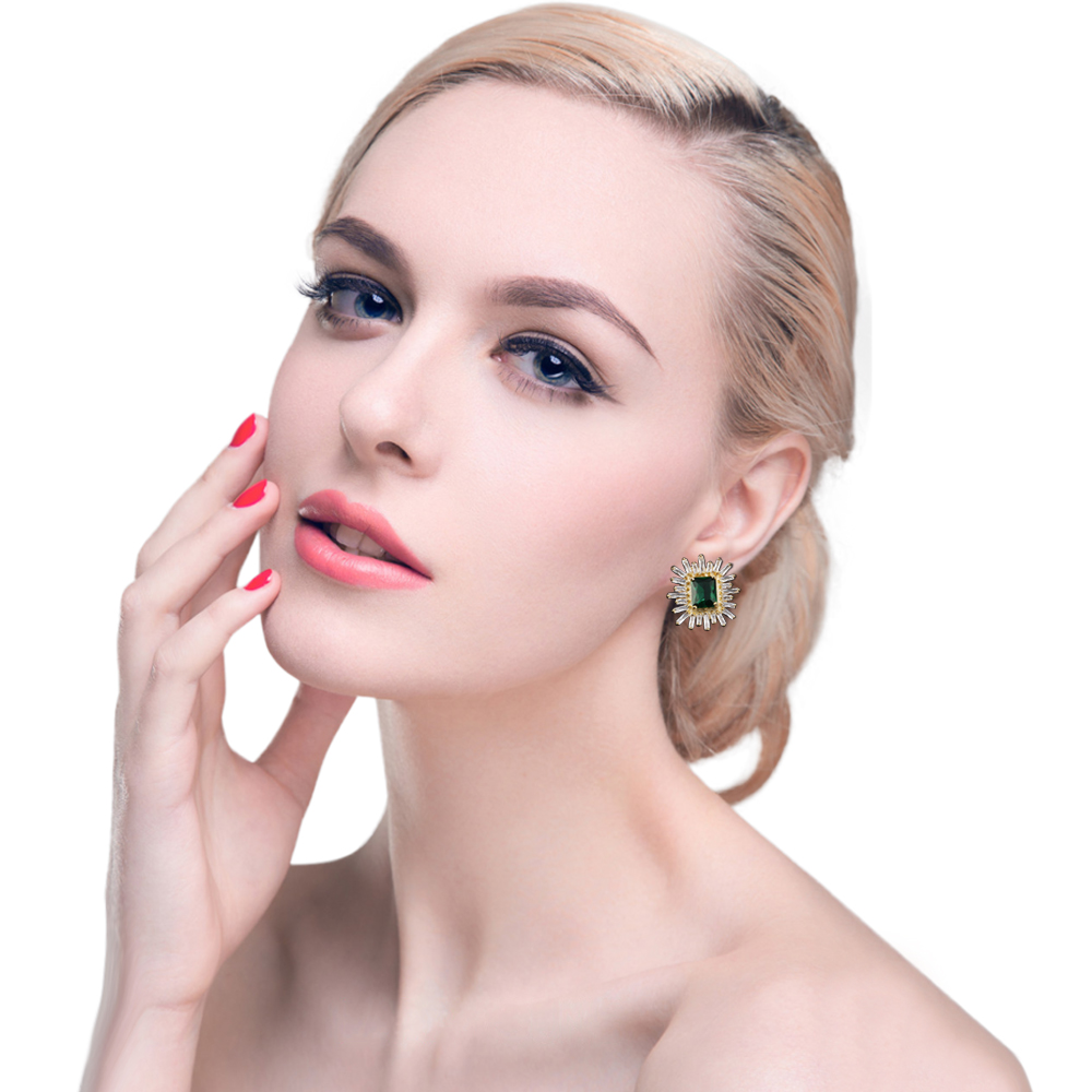 QOOKOO I New Riverdale Stud Earrings Silver Studs Jewelery Earring with Stones Fancy Modern Womens Earrings 2018