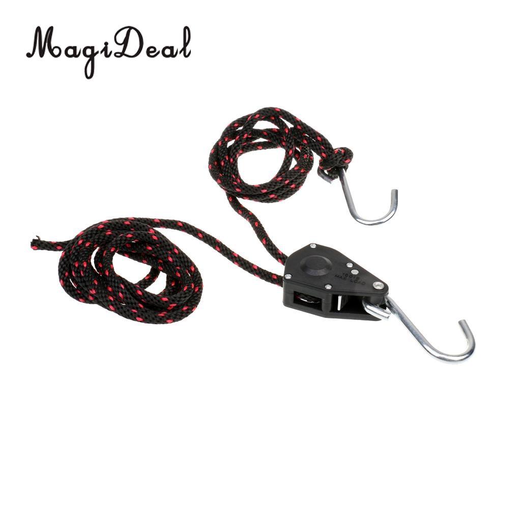 MagiDeal 1Pc Nylon &Metal 6mm x 2.5M Kayak Rope Ratchet Tie Down ...