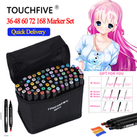 TOUCHFIVE 168 36 48 60 80 Colors Art Markers Pen Permanent Marker Set Sketch Copic Markers