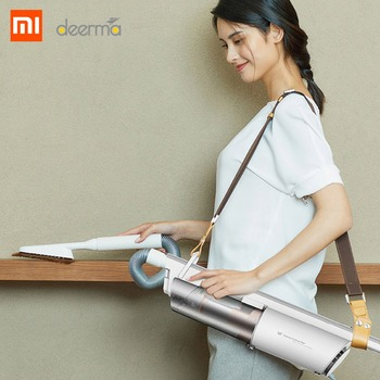 Xiaomi Deerma DX800S Vertical Handheld Vacuum Cleaner Back-carrying Shoulder-style Portable 600W 14000P Mini Household Cleaner vacuum cleaner for sofa