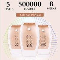 500000 Flashes Painless Five Adjustable Laser IPL Epillator Hair Remover Lip Armpit Body Bikini Removal US/EU Plug Safe 110~240V