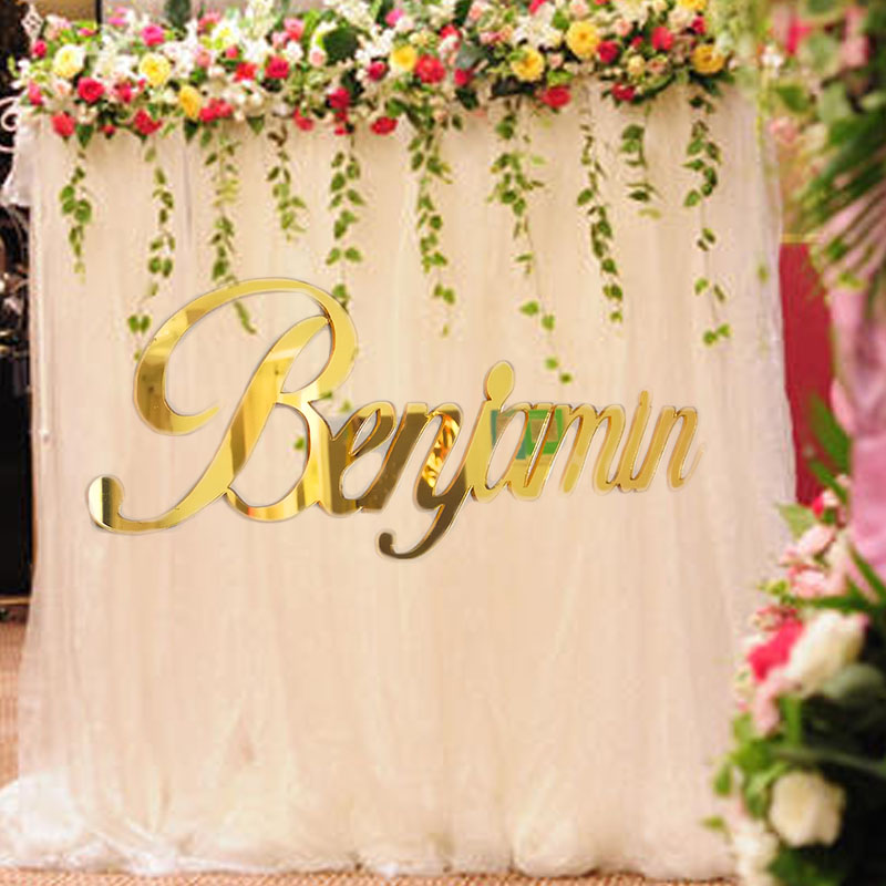 Custom Baby Shower Acrylic Name Sign Gold Silver Wood Birthday Wedding Party Decoration, Personalized Babyshower Door Sign