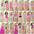 Randomly Pick 6 Set Handmade Original Doll's Dress Skirt Princess Clothes Outfit For Barbie best baby christmas gift Baby Toy