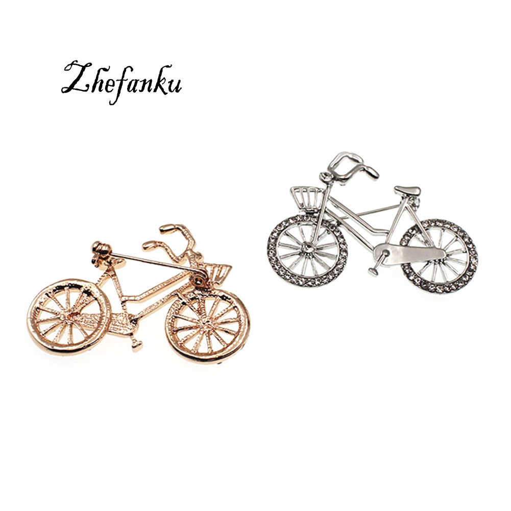 Cool Bike Brooches For Women  Scarf Buckle Small Bicycle Model Brooch Pins Dual - Use Suit Garment  Accessory