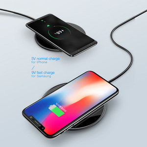 Image 3 - 10W Qi wireless charger for iPhone X XS Max XR 8 plus,USAMS wireless charging pad fast charge for Samsung S8 S9 plus note 9 8 s7
