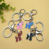 Drip Animal Elephant Charm Keychain Women Bag Pendant Quality Chic Alloy Pendant Key Chain Ring Holder Jewelry Accessories A018