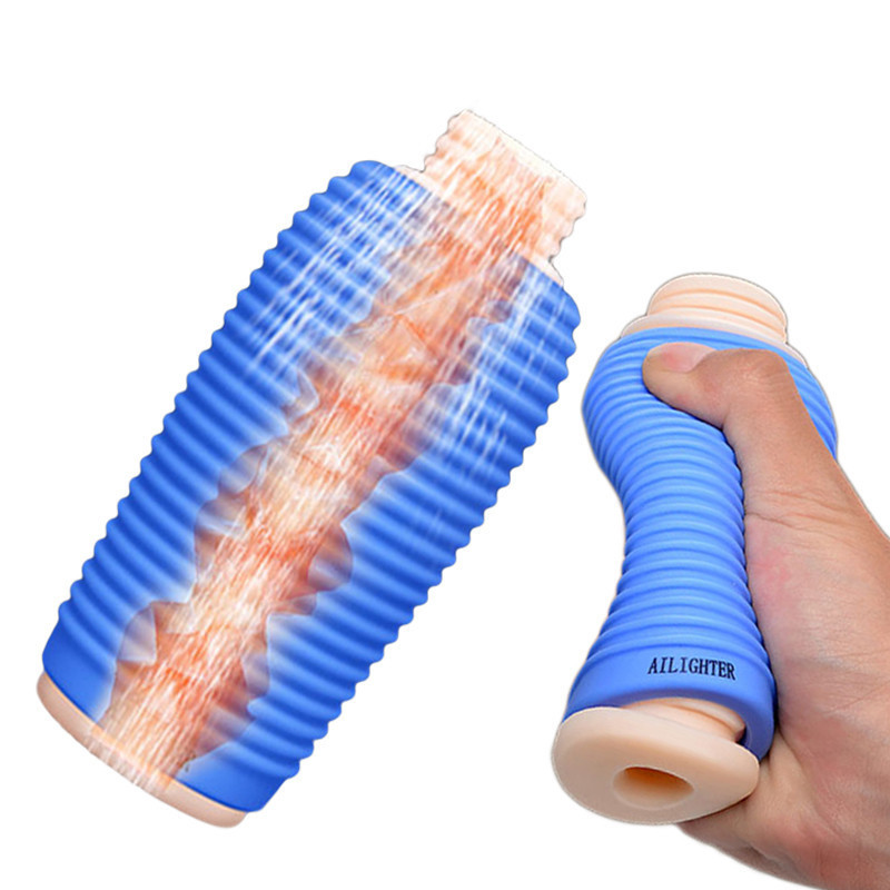 Male Penis Tranier Masturbation Cup Dick Stimulator Dual Channel Staged Ejaculation Delay Glans Massager For Men Adult Sex Shop