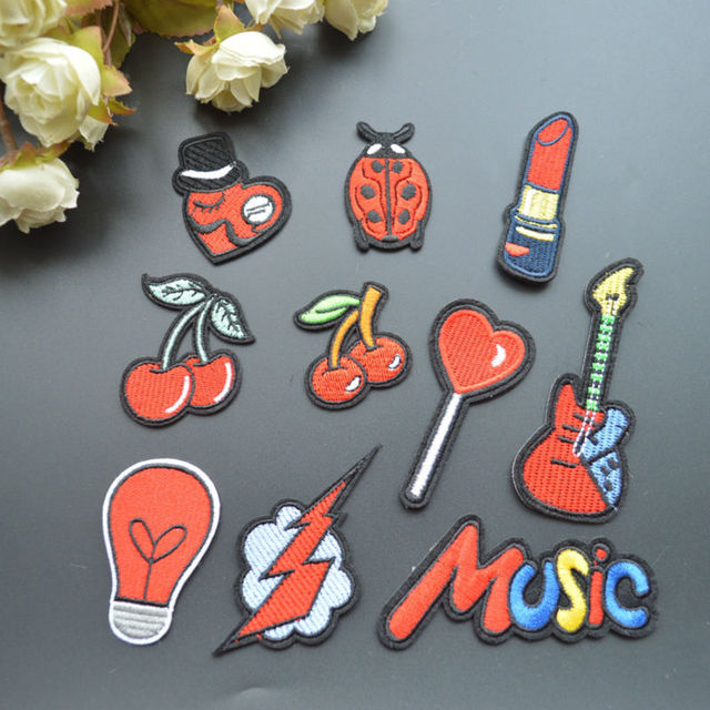 free shipping cute small size patches iron on patches patches for clothing  Embroidered Patches 10 pieces