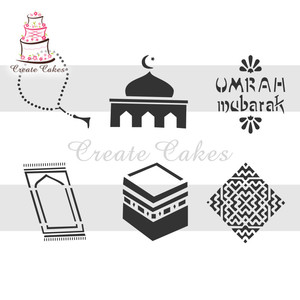 Image 5 - Eid Mubarak Stencil for Cake and Cookie Plastic Decorative Stencil Fondant Decorating Sugarcraft Tools Bakeware