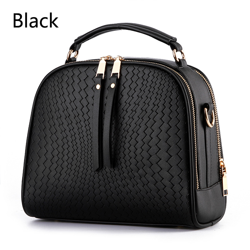Wanita Top-handle Bags Flap Crossbody Bags Women Leather Small Handbags Fesyen Female Tote Pepejal Ladies Shoulder Bag # 14To31 / 9-2