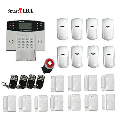 SmartYIBA Wireless Home Security House Alarm Systems SMS Alert Auto Dialing Voice Prompt for Smart House GSM Alarm Sensor Motion недорго, оригинальная цена