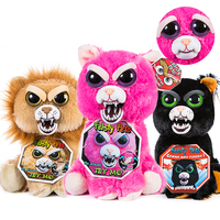 New Feisty Pets Roaring Angry Toy Children Gift Change Face Stuffed Animal Doll Plush Toys For Kids Cute Prank toy Free shipping