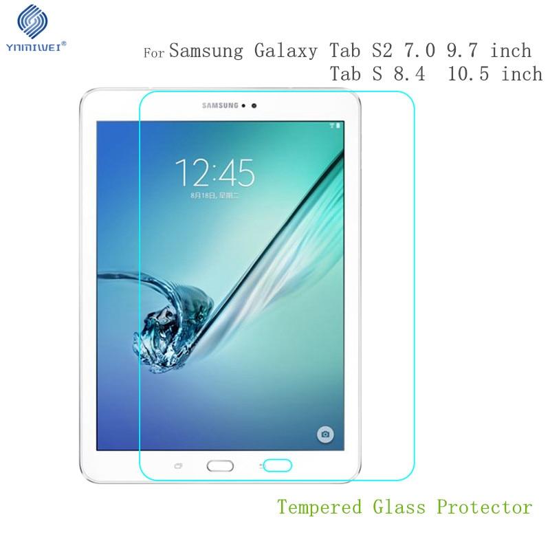 Tab S 10.5 Klaasi kaitsekile Samsung Galaxy Tabile S2 9.7 T810 T813 T815 T819 T815C T710 T713 T715 tahvelarvuti kaitse