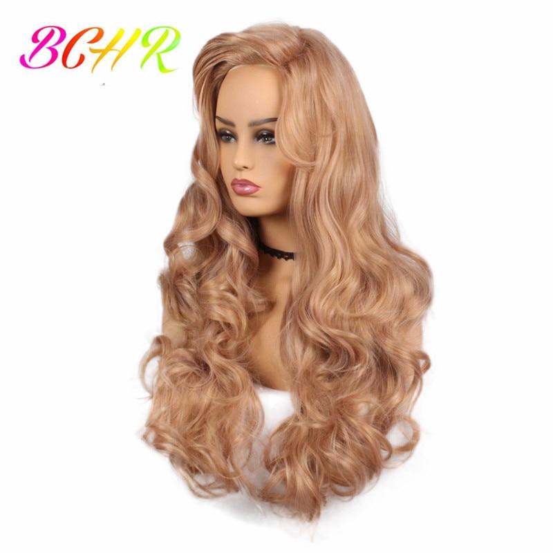 BCHR långblond vågig syntetisk peruk för kvinnor med stora byte - Syntetiskt hår - Foto 2