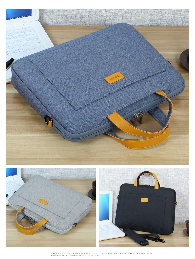 Image 5 - 13 14 15.6 Man Felt Shoulder Handbag Notebook Laptop Sleeve Bag Pouch Case For Xiaomi Acer Dell HP Asus Lenovo Macbook Pro Air-in Laptop Bags & Cases from Computer & Office