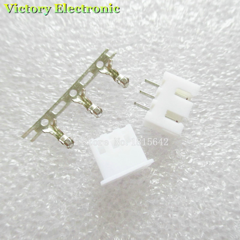 20PCS/LOT XH2.54 Connector Kits 2.54mm Pin Header + 3P Terminal + Housing XH2.54-3P Wholesale Electronic