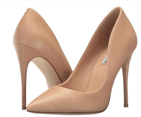 Высокое качество классические голый цвет высокий тонкий каблук Для женщин Туфли под платье 8/10/12 см каблуке женские туфли-лодочки из натурал... ...