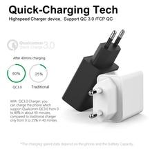 YILIZOMANA Fast charger Quick charge USB QC 3.0 EU US Plug For iPhone 6 7 8 X XS Xiaomi Mi 8 HuaWei Mate 20 Pro Phone charging цены