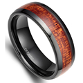 2016 Hot Sale Trendy 6 mm Red Wood Grain Ceramic Ring For Men Wedding Party Classic Finger Jewelry For Men Free Shipping