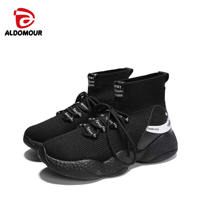 ALDOMOUR Breathable Mesh Running Shoes For Men Lightweight Summer Outdoor Sports Shoes Comfortable baskets homme chaussure ljl