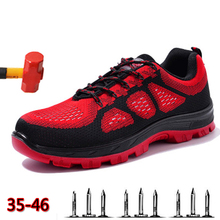 Lightweight Breathable Men Safety Shoes Steel Toe Work For Anti-smashing Construction Sneaker Indestructible