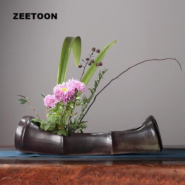 Zen Japanese Zen Style Bamboo Vintage Elegant Vase Ikebana Jardiniere Creative  Home Decor Desktop Hydroponic Bonsai