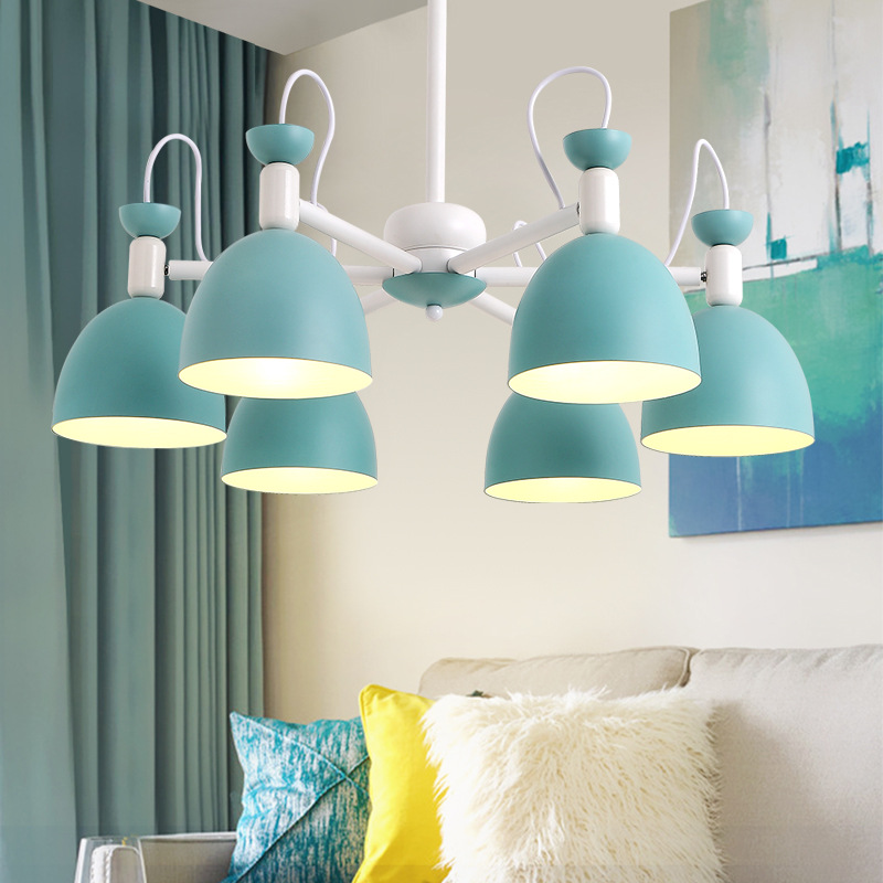 modern colorful iron Macarons candy pendant light study room bedroom living room restaurant hanging lighting E27modern colorful iron Macarons candy pendant light study room bedroom living room restaurant hanging lighting E27