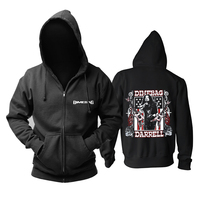 Bloodhoof Free shipping Dimebag Darrel Flag and Stars Heavy metal NEW BLACK COTTON HOODIE Asian Size