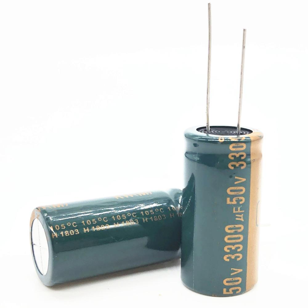 3~50pcs/lot <font><b>50V</b></font> <font><b>3300UF</b></font> 18*35mm Low ESR/Impedance high frequency aluminum electrolytic capacitor <font><b>3300uf</b></font> 20% 20% image