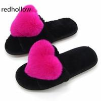 2018 autumn winter summer women sandals fuzzy plush real natural rabbit fur slides mules slippers flat platform sandals