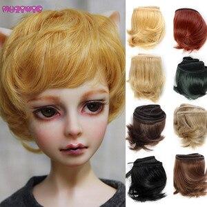 Высококачественные кукольные волосы 5 см, кусок коричневого, белого, красного, синего, черного, серого цвета, прямые кукольные волосы для кук...