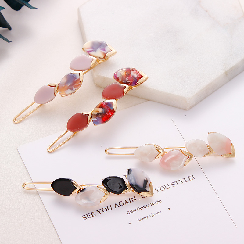 Ins New Women Elegant Flower Acetate Hairpin Headband Sweet Hair Ornament Barrettes Hair Clip Hairgrip Fashion Hair Accessories