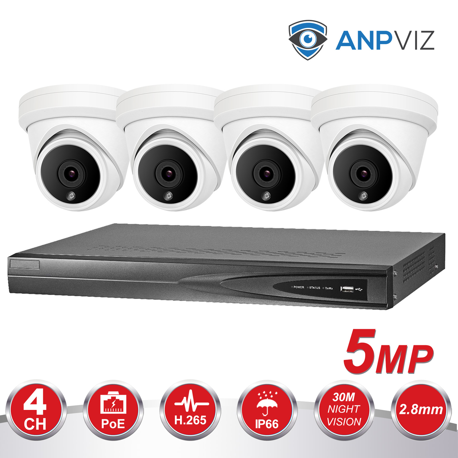 Sistema De Câmeras de Vídeo HD 4CH 5.0 MP Câmera IP Interno do Metal 4CH 5MP 13 V CCTV Kit POE NVR E-mail alarme Night Vision