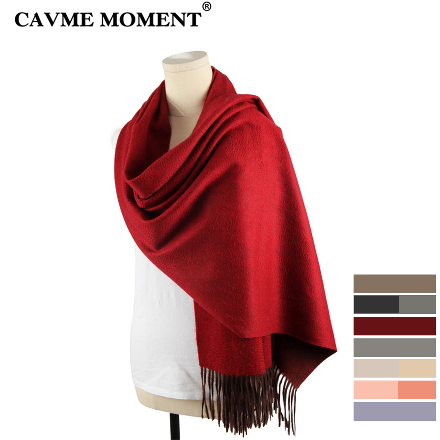 CAVME Cashmere   Scarf   Ladies Luxury Long   Scarves   Thicken Cashmere Largue Size   Scarf     Wrap     Wraps   Shawl with Tassels 70*200cm 320g