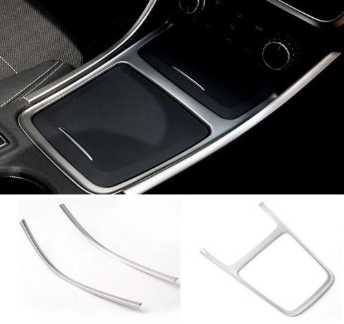 BBQ @ FUKA Auto Console de voiture boîte de rangement cadre couverture garniture style autocollant en acier inoxydable adapté pour Benz GLA CLA200 220 A180