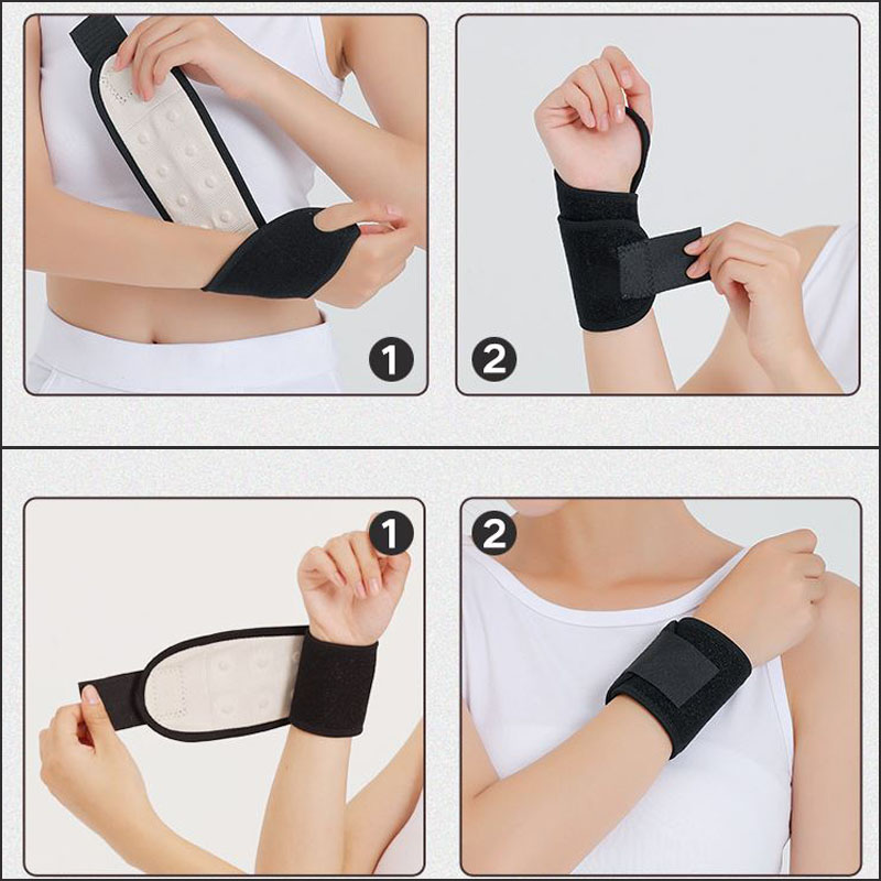 1PC Magnet Wrist Guard Strap Pain Relief Exquisite Breathable Training Elastic Bands Wrist Support Gloves Hand Brace Protection in Braces Supports from Beauty Health