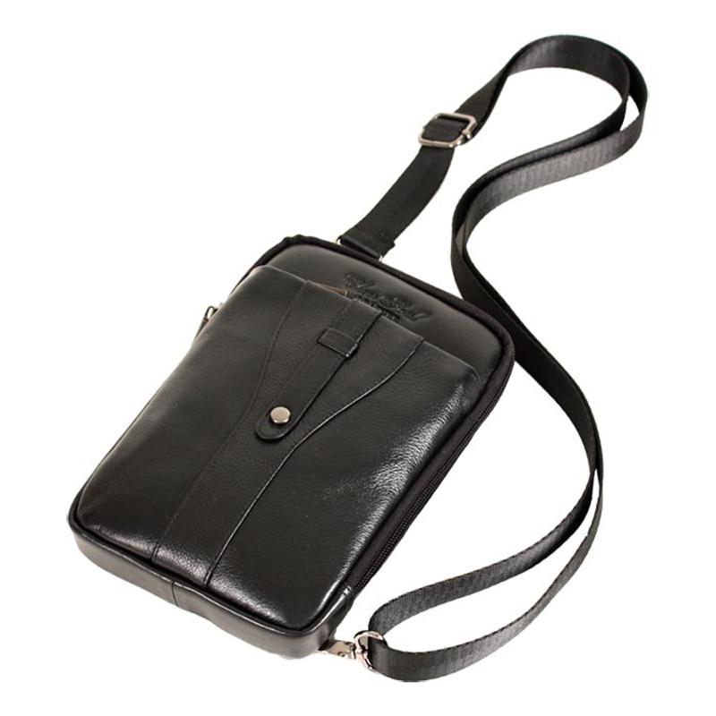 CHEER SOUL Valódi bőr válltáska Férfi alkalmi derékszíj táskák Utazás Crossbody Messenger táskák Férfi telefonos tasak mellkasi táska