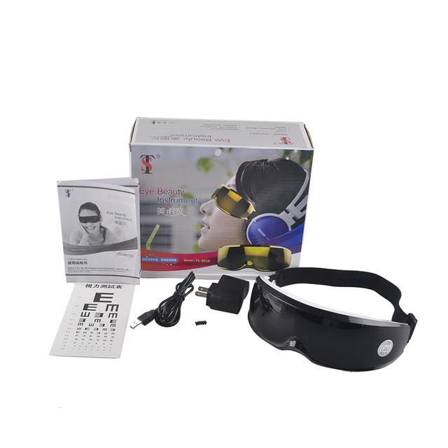 Massager do Cuidado do Olho elétrico USB Óculos Máscara Enxaqueca Elétrica Vibração Lançamento Aliviar A Fadiga Ocular Massageador instrumento beleza