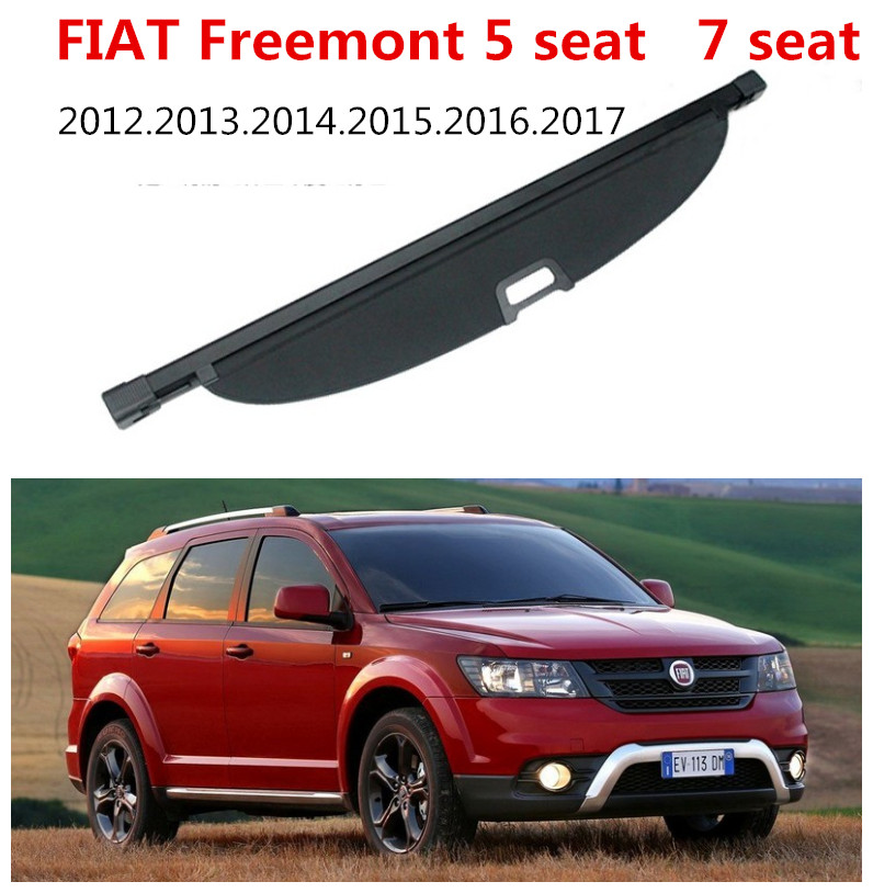 Car Rear Trunk Security Shield Cargo Cover For FIAT Freemont 5 seat 7 seat 2012.13.14.15.2016.2017 High Qualit Auto Accessories car rear trunk security shield cargo cover for ford ecosport 2013 2014 2015 2016 2017 high qualit black beige auto accessories